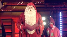 Santa Claus Opens Christmas Season in His Arctic Hometown