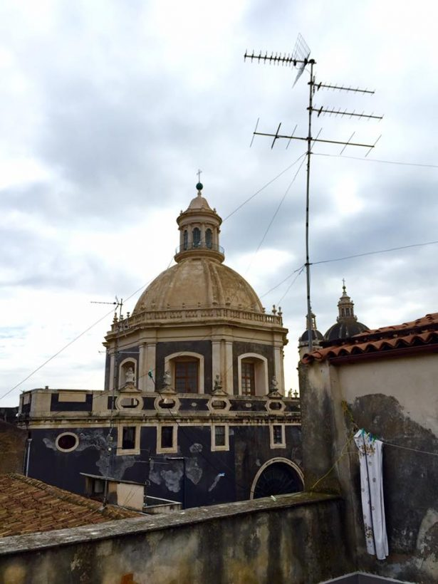 Roof top of a residential building in Sicily, Italy