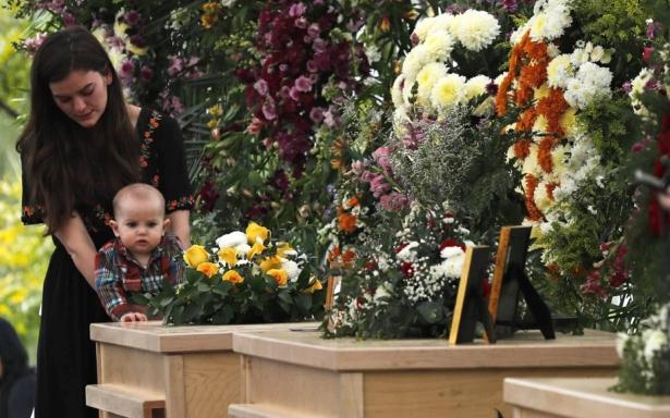 Slain family's funeral