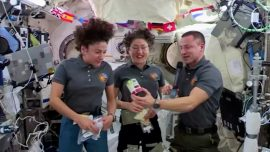 Turkey 'In a Pouch' Tops Thanksgiving Treats for US Astronauts in Space Station