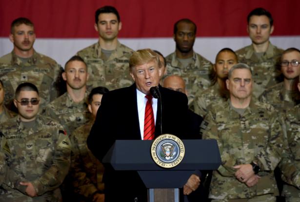 Trump speaks to the troops in Afghan
