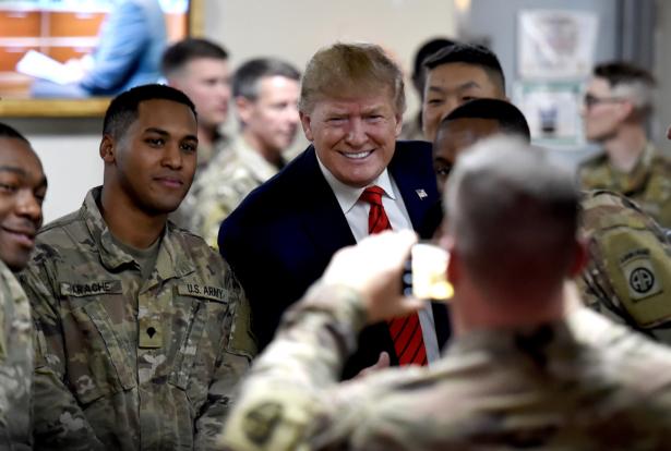 Trump visit to Troops in Afghanistan