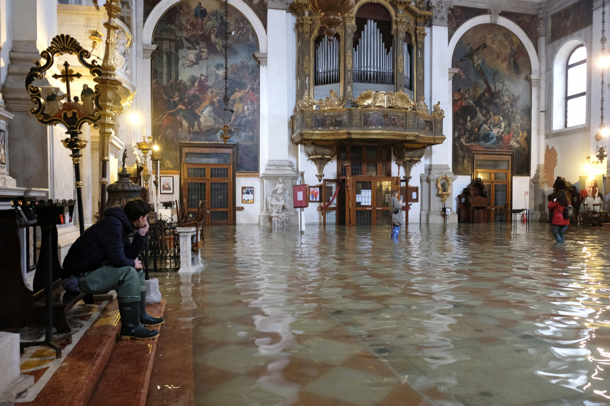 A flooded church