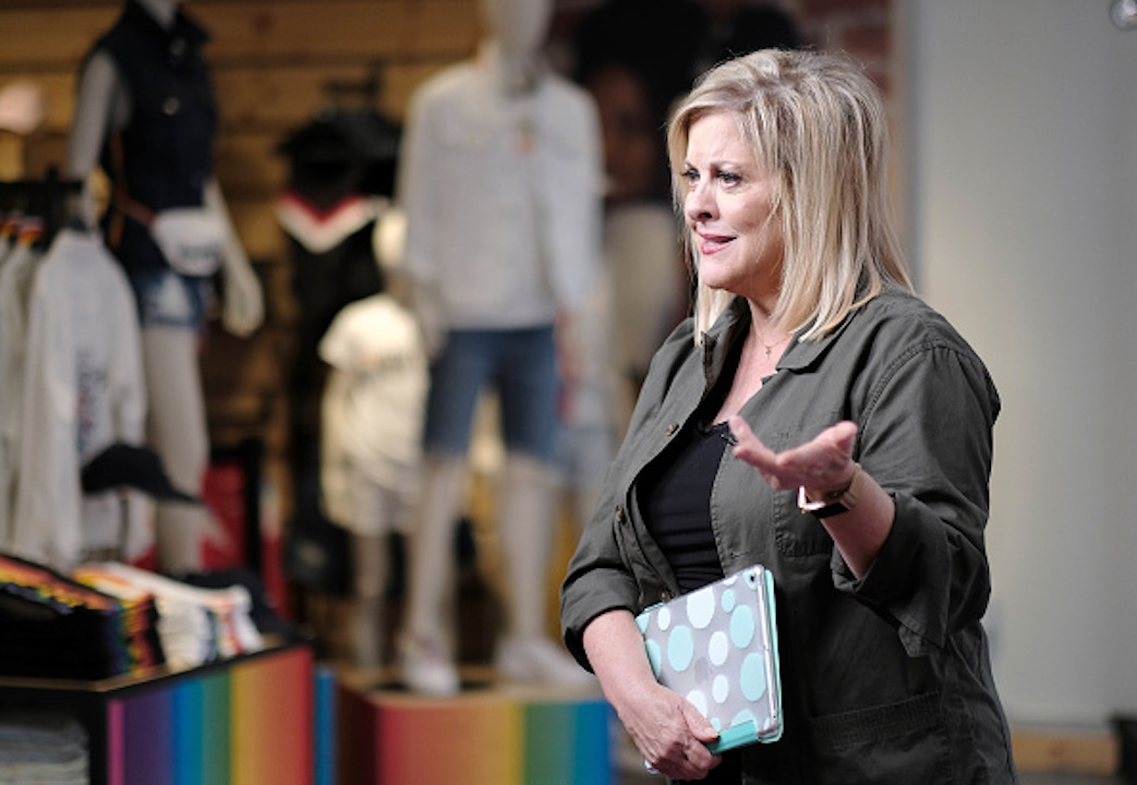 """Nancy Grace visits """"Extra"""" at The Levi's Store Times Square"""