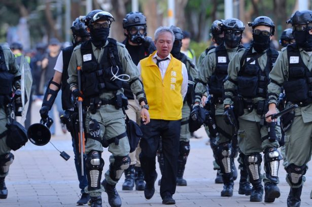 Police arrested political candidate Richard Chan