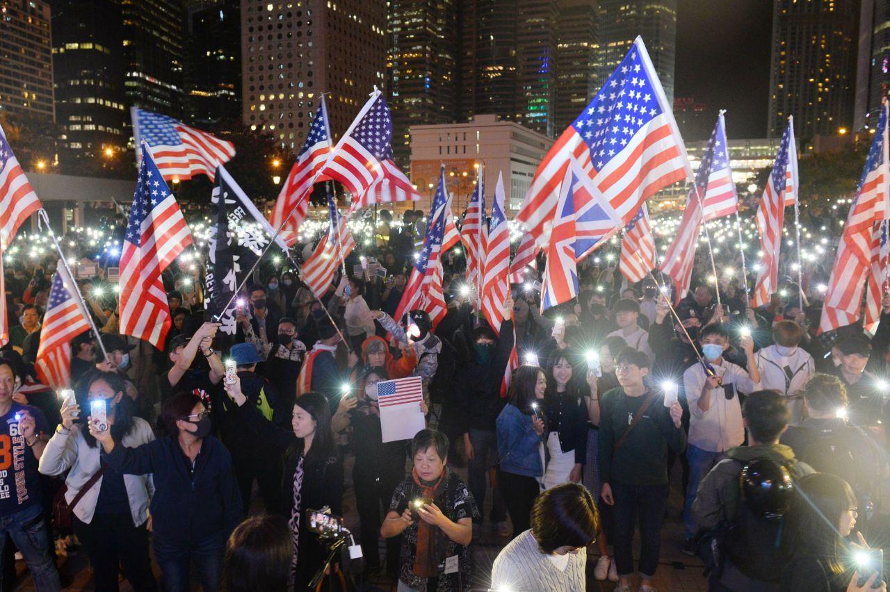 hong kong thanksgiving rally