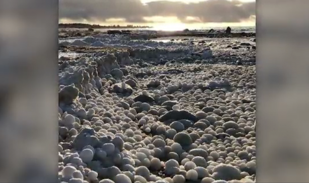ice balls in Finland