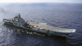 Fire at Russia's Only Aircraft Carrier Kills 1, Injures 11