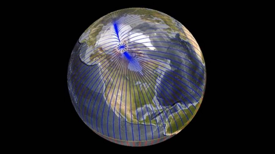 Earth's magnetic north pole is heading towards Siberia
