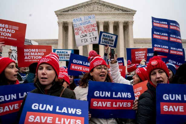 Activists Rally As Supreme Court Hears Arguments NYC Gun Control Case