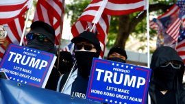 Hong Kong Protesters Hold Second Rally in Less Than a Week Thanking US Government