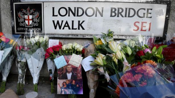 Condolence and floral tributes London Bridge attack