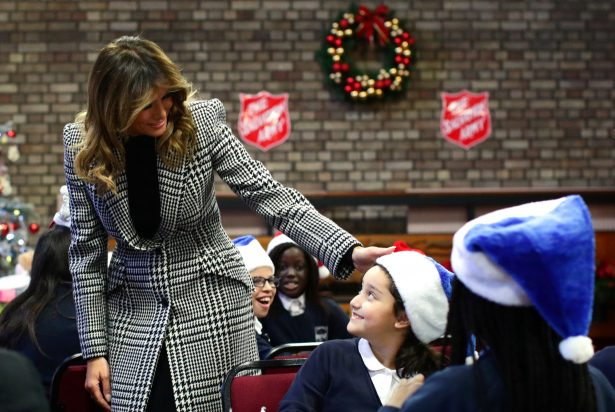 Melania with children in London