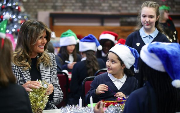 Melania with kid