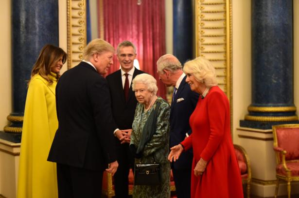 Queen Hosts NATO Leaders, Trump and Melania
