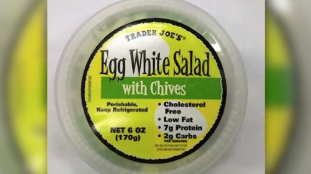 Trader joe's egg, potato salad recall due to listeria.