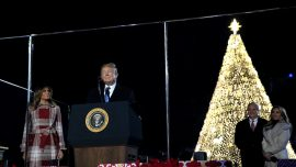 Trump Lights National Christmas Tree in Holiday Tradition