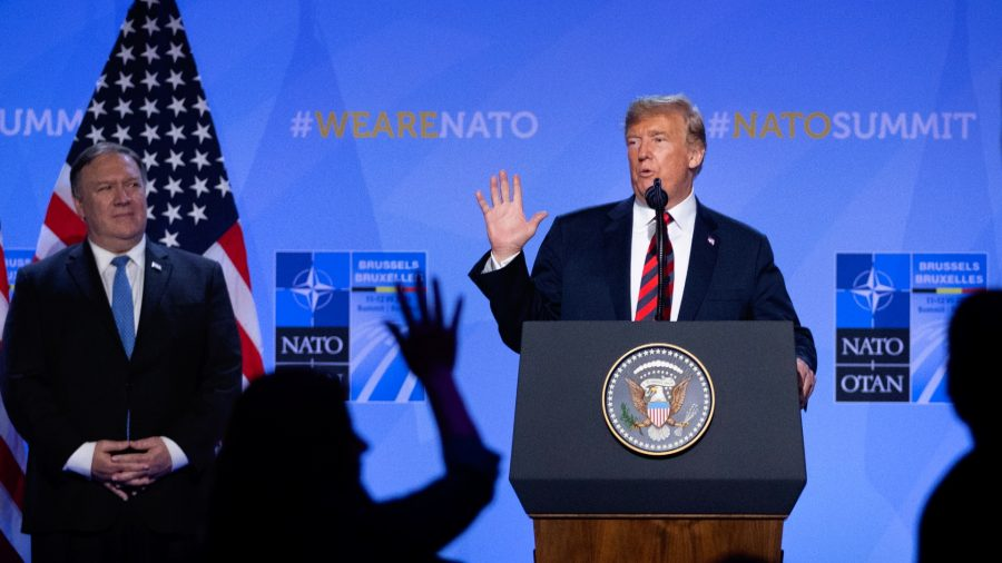 Trump, Pompeo Fault Democrats for Having Impeachment Hearings During NATO Meetings