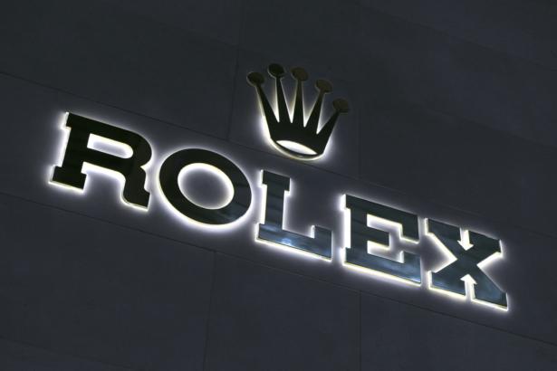A Rolex logo