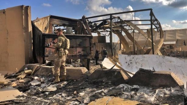 Damage at Ain al-Asad air base