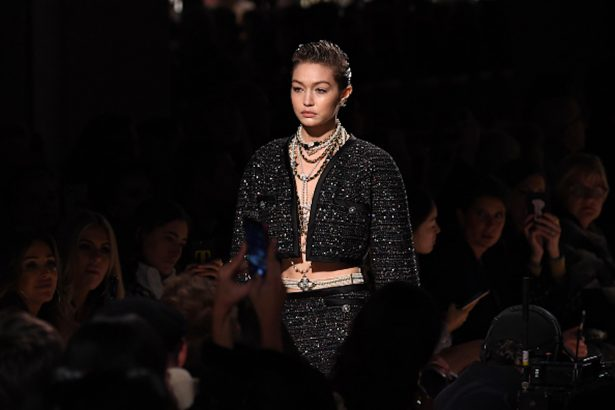 Gigi Hadid walks the runway during the Chanel Metiers d'art 2019-2020 show at Le Grand Palais
