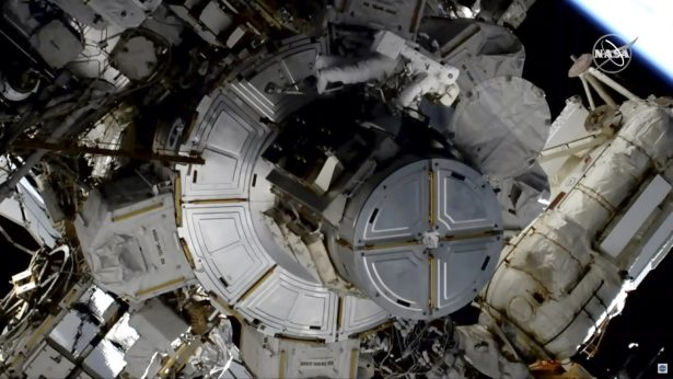 You can see the first spacewalk of 2020 now