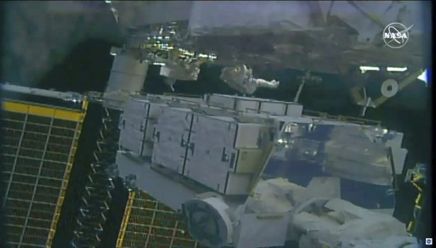 Two female United States astronauts complete spacewalk, replacing batteries