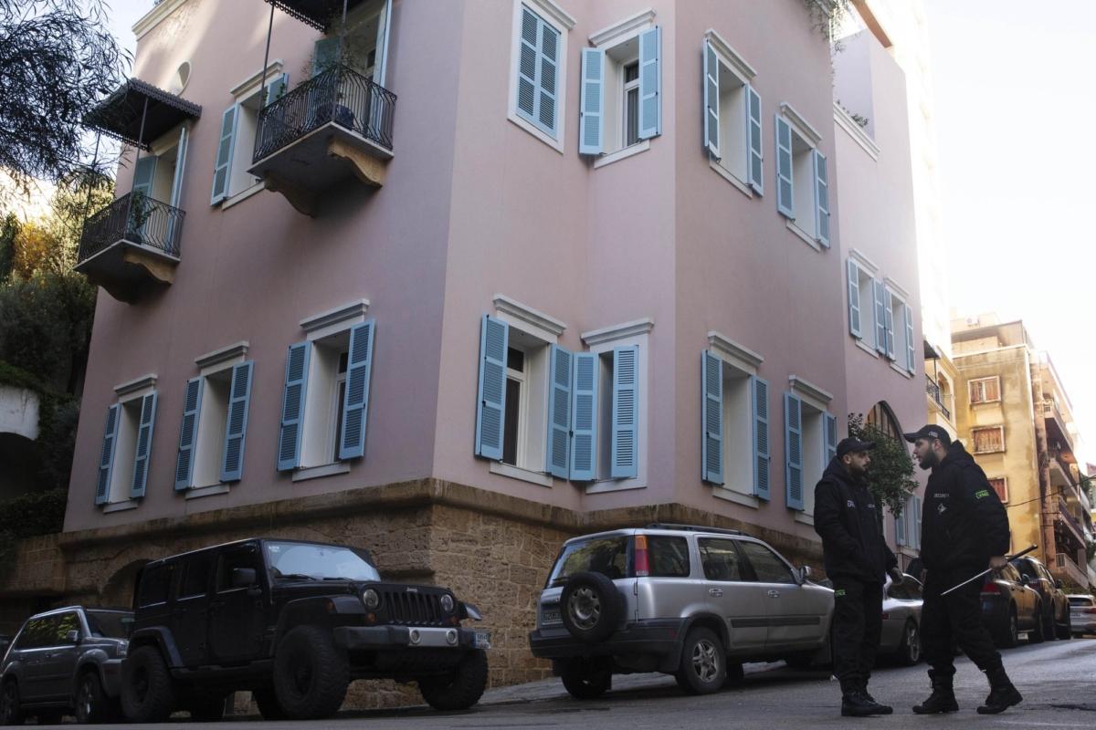 Security Ghosn house