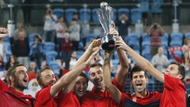 Djokovic Leads Serbia to Win Over Spain in ATP Cup Final