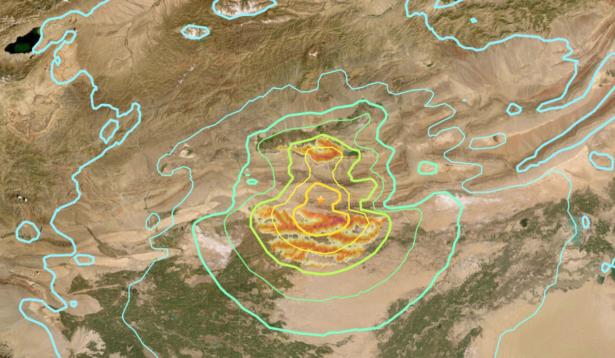 Xianjiang earthquake location