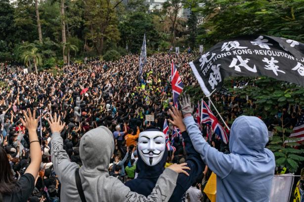 Universal Siege On Communists' rally