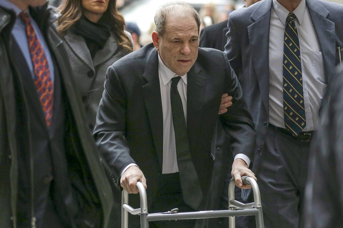 Weinstein arrives in court
