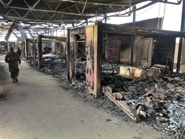 Damage at iraqi base