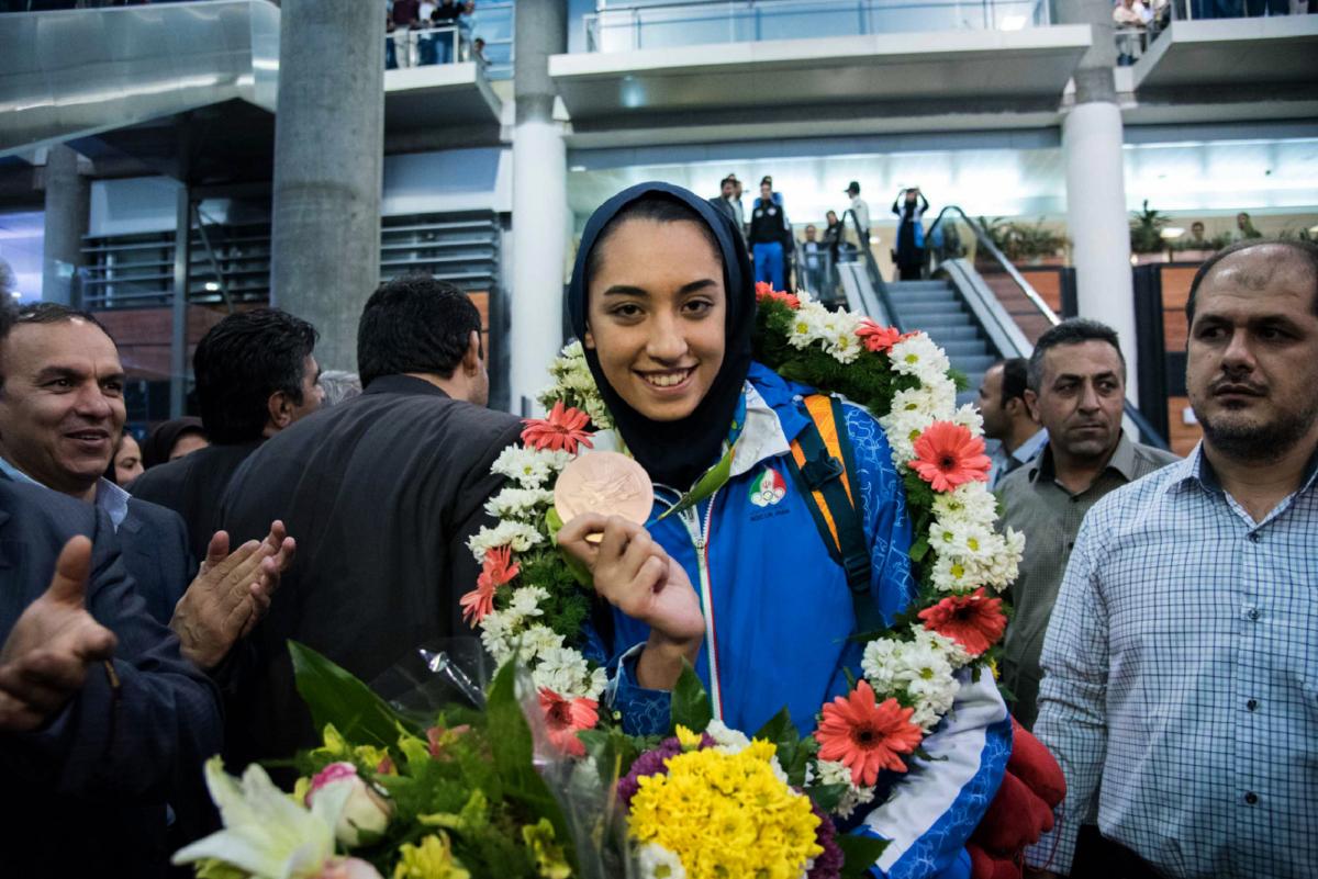 Iranian female medalist Kimia Alizadeh