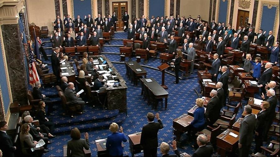 Impeachment Trial of Trump Formally Starts as Senators Are Sworn In