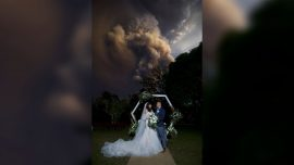 A Couple Got Married in the Philippines While a Volcano Erupted in the Background