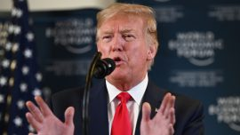 Trump Talks EU Trade, WTO Reform in Davos