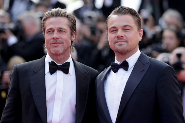 """Brad Pitt and Leonardo DiCaprio attend the screening of """"Once Upon A Time In Hollywood"""""""