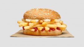Burger King Debuts French Fry Sandwich and Wendy's Isn't Impressed