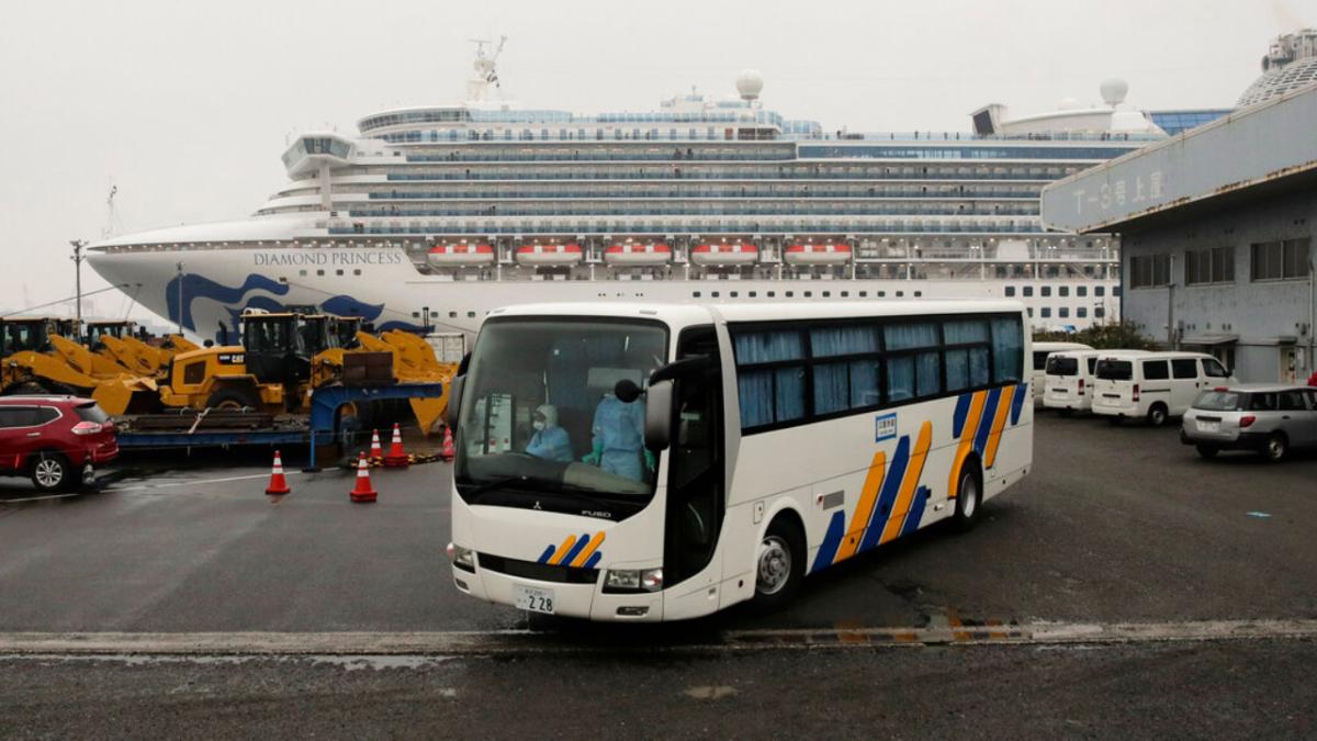 quarantined Diamond Princess cruise ship