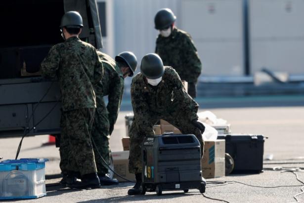 Japan Self-Defense Force (JSDF) soldiers-Cruise ship Diamond Princess-Coronavirus