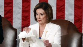 Pelosi Rips Up Trump's State of the Union Speech After Apparent Handshake Snub