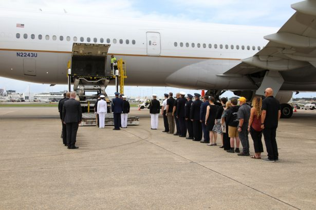 The repatriation ceremony -U.S. firefighters-killed in AUS