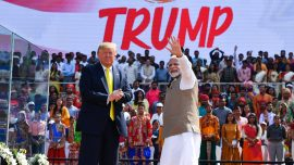 'Namaste Trump:' Indian Prime Minister Holds Huge Rally for President's Visit