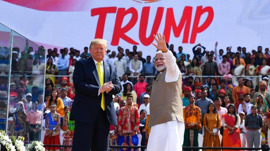 'Namaste Trump:' Indian Prime Minister Holds Huge Rally for President's Visit