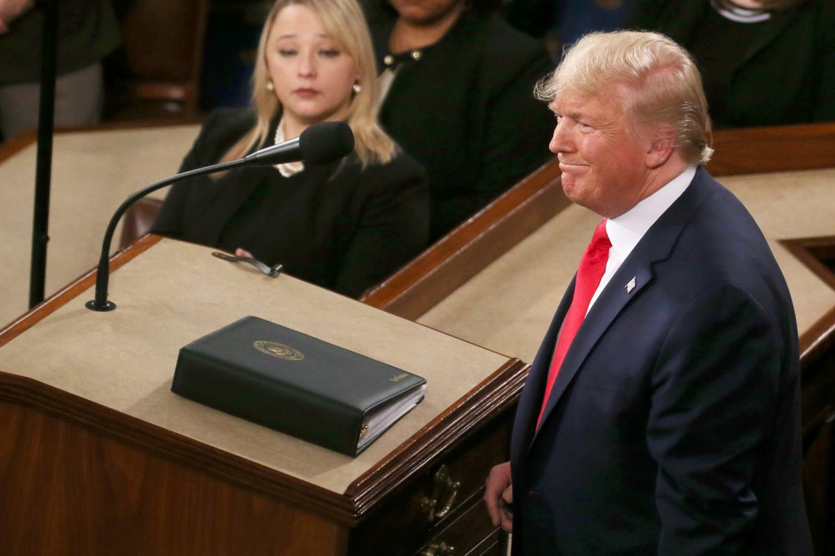 Trump delivers state of union