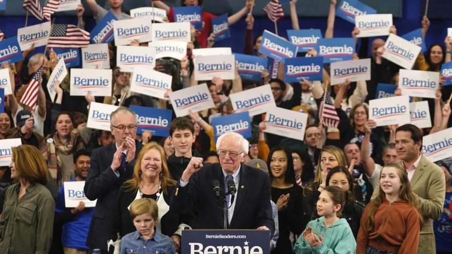 Bernie Sanders Declares Victory in New Hampshire Democratic Primary