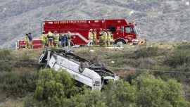 Charter Bus Rollover Kills 3, Injures 18 Outside San Diego