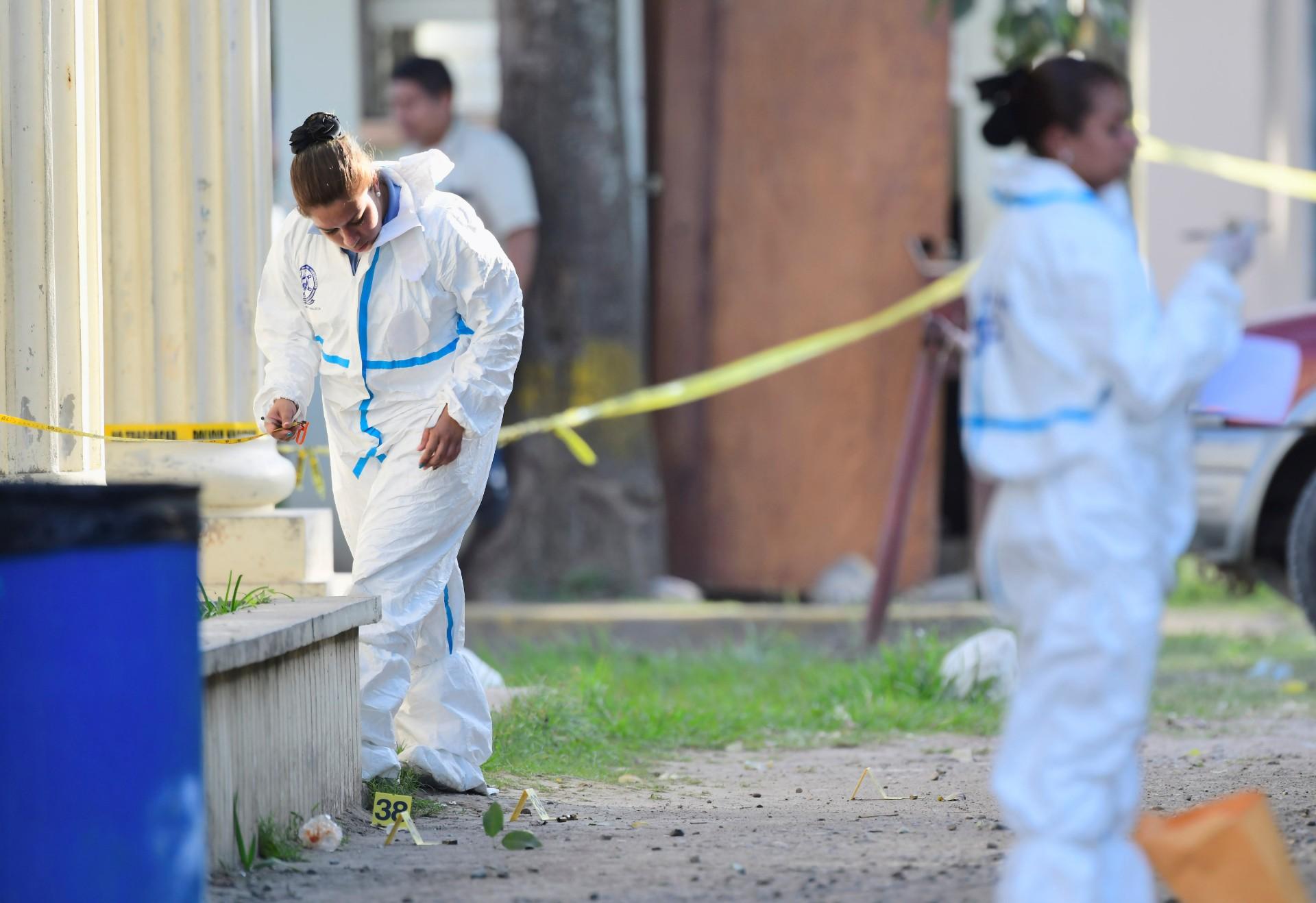 crime scene in El Progreso, Honduras