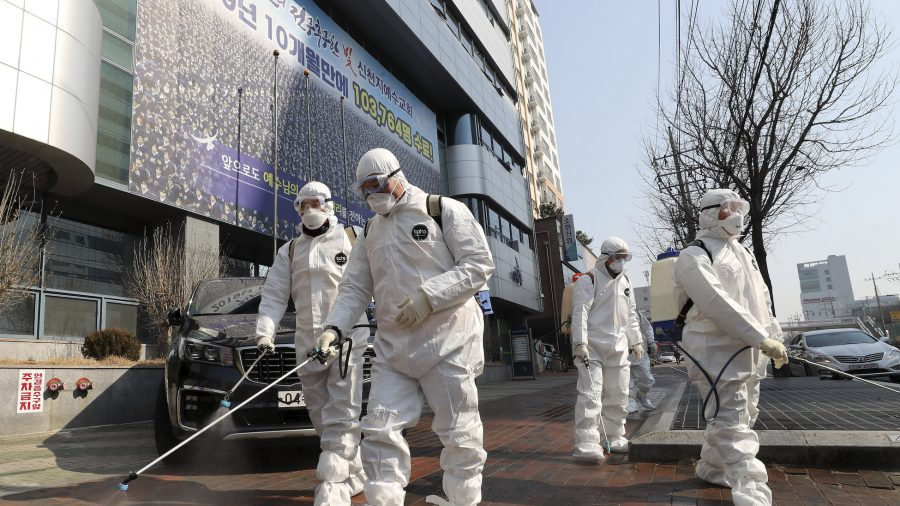 Chinese coronavirus cases fall outside Wuhan, but South Korean cases surge again